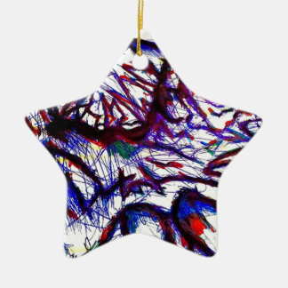 Ten Thousand Pounds of Pain Ceramic Star Ornament