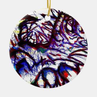Ten Thousand Pounds of Pain Round Ceramic Ornament