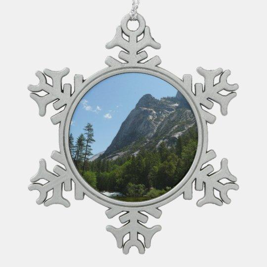 Tenaya Creek in Yosemite National Park Pewter Snowflake Ornament