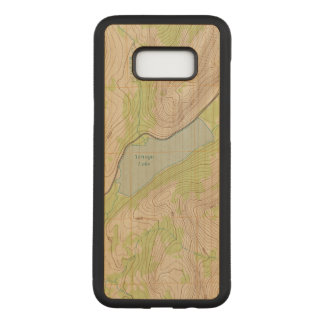 Tenaya Lake, Yosemite Topographic Map Carved Samsung Galaxy S8+ Case
