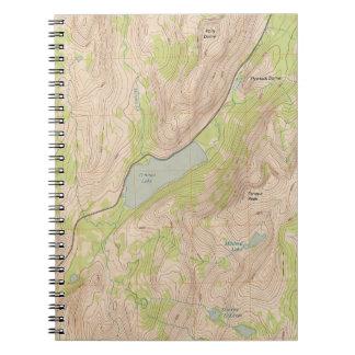 Tenaya Lake, Yosemite Topographic Map Notebooks