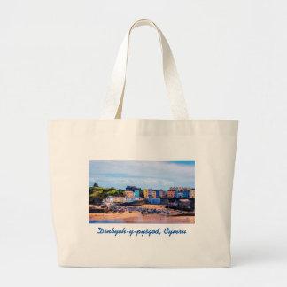 Tenby Wales Walled Seaside Town Large Tote Bag