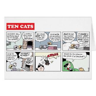 TenCats Christmas on Zazzle Card