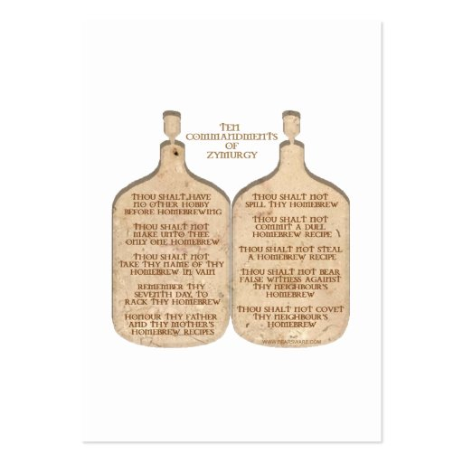 TenCommandments Large Business Cards (Pack Of 100)