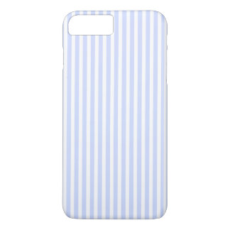 Tender Baby Blue Pale Sky Blue and White Stripe iPhone 7 Plus Case