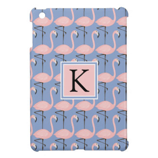 Tender Flamingo Pattern   Monogram iPad Mini Covers