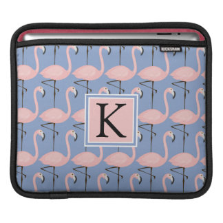 Tender Flamingo Pattern | Monogram iPad Sleeve