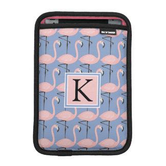 Tender Flamingo Pattern | Monogram Sleeve For iPad Mini