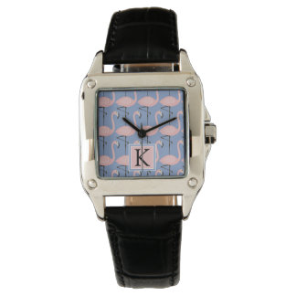 Tender Flamingo Pattern | Monogram Wrist Watches