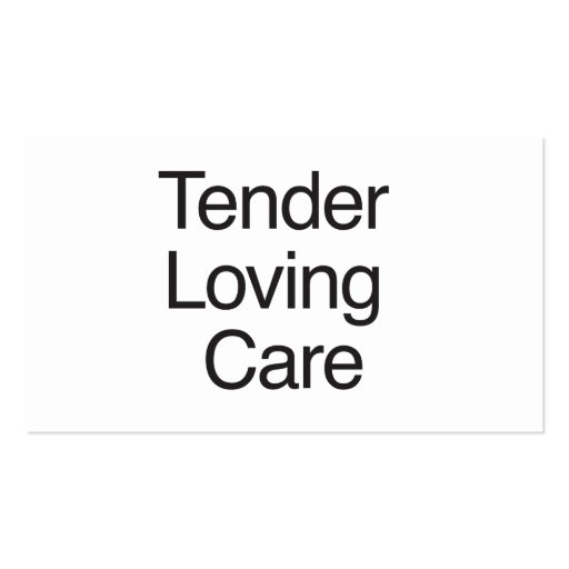 Tender Loving Care Business Card