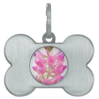 Tender pink field more flower pet tag