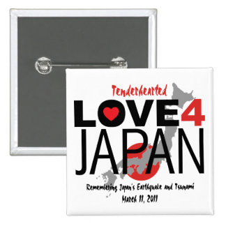 Tenderhearted Love 4 Japan 2 Inch Square Button