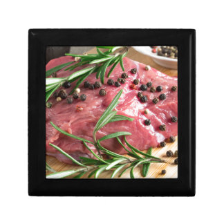 Tenderloin of raw beef with herbs and spices gift box