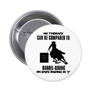 Tendre des conceptions de Baril-équitation Macaron Rond 5 Cm