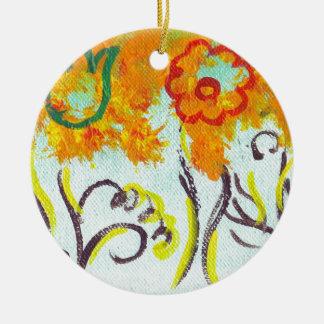 tendrils ceramic ornament