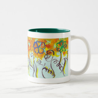Tendrils Two-Tone Coffee Mug