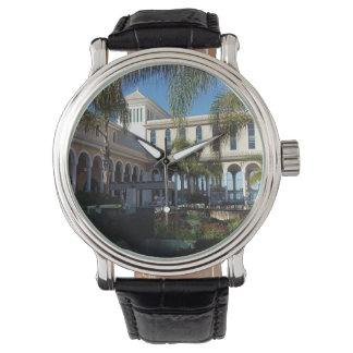 Tenerife Hotel and Palm Trees Leather Watch