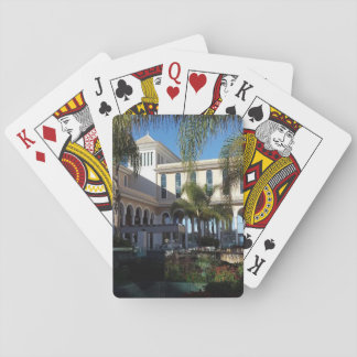 Tenerife Hotel and Palm Trees Playing Cards