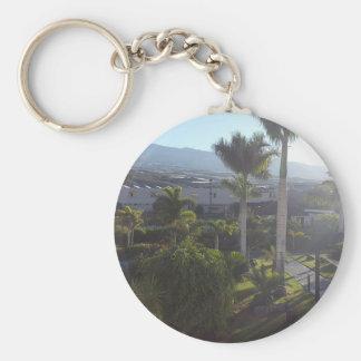 Tenerife Landscape Button Key Ring