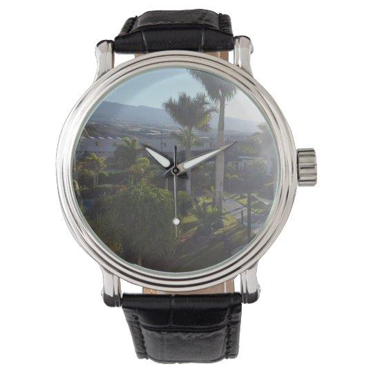 Tenerife Landscape Leather Watch