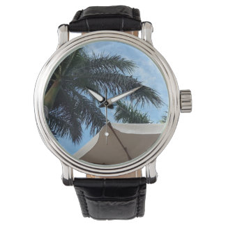 Tenerife Palm Tree Leather Watch