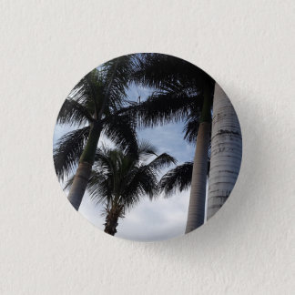 Tenerife Palm Trees Button Badge