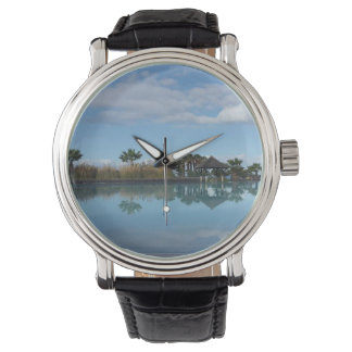 Tenerife Poolside View Leather Watch
