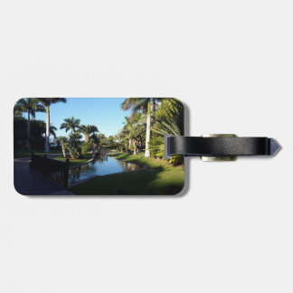 Tenerife Stream with Palm Trees Luggage Tag