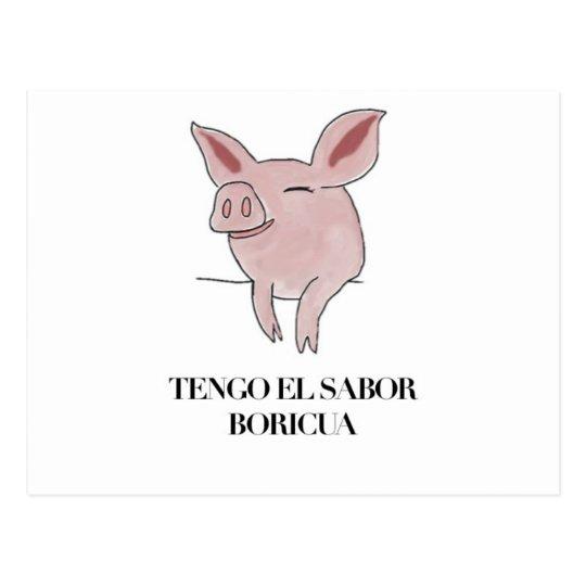 Tengo el Sabor Boricua. Postcard