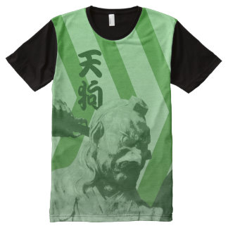 Tengu Chevron All-Over-Print T-Shirt