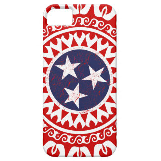 Tennesse State Flag Grunge Nashville Love Pattern Case For The iPhone 5