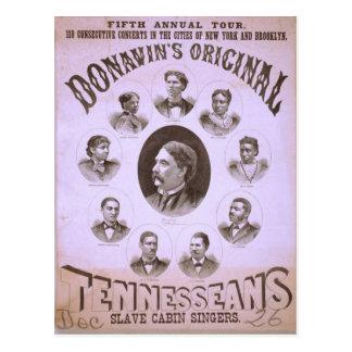 Tennesseans, 'Slave Cabin Singers' Retro Theater Postcard
