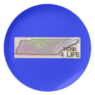"""Tennessee 4 Life"" State Map Pride Design Plate"