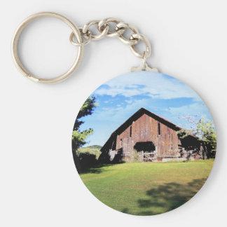 Tennessee Barn Basic Round Button Keychain