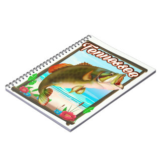 Tennessee Fishing poster. Notebook