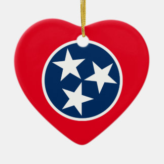 Tennessee Flag Ceramic Ornament