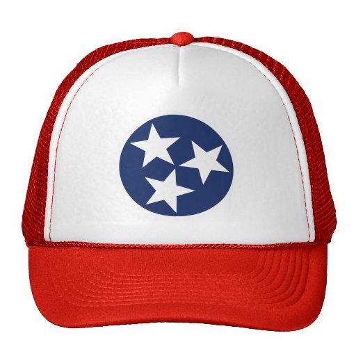 Tennessee Flag Emblem Mesh Hats