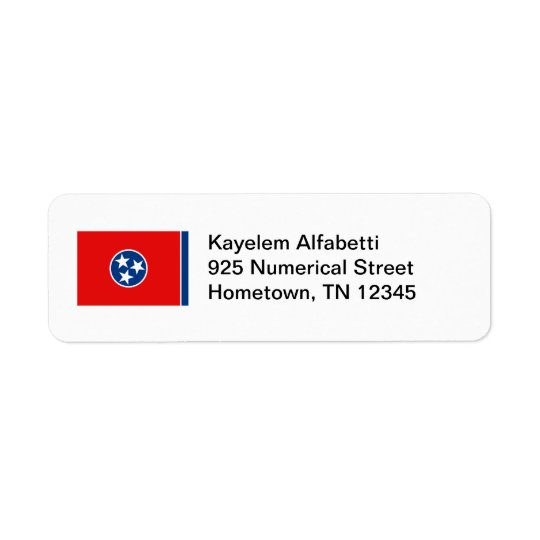 Tennessee Flag Return Address Label