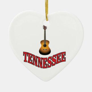 Tennessee Guitar Ceramic Ornament