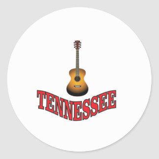Tennessee Guitar Classic Round Sticker