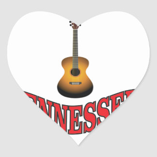 Tennessee Guitar Heart Sticker