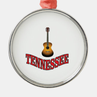 Tennessee Guitar Metal Ornament
