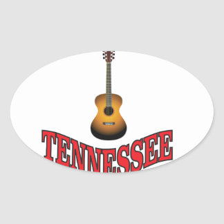 Tennessee Guitar Oval Sticker