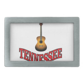 Tennessee Guitar Rectangular Belt Buckle