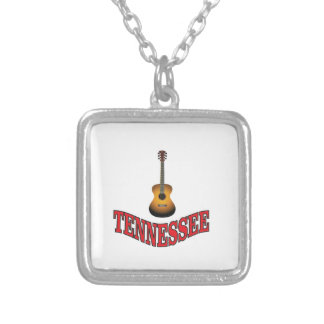 Tennessee Guitar Silver Plated Necklace