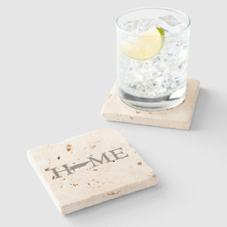 Tennessee Home State Word Art Stone Coaster