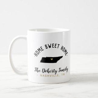 Tennessee Home Sweet Home Family Monogram Mug