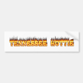 Tennessee hottie fire and flames bumper sticker