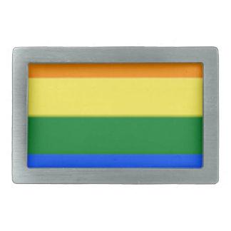 Tennessee LGBT Flag Map Belt Buckles