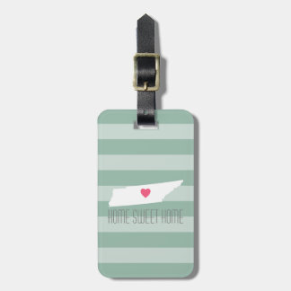 Tennessee Map Home State Love with Custom Heart Luggage Tag